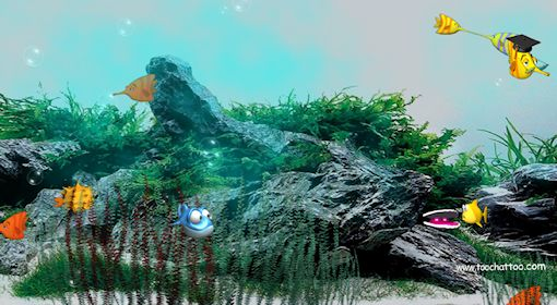 Desktop background fond d 39 cran anim et sonore gratuit for Fond ecran aquarium